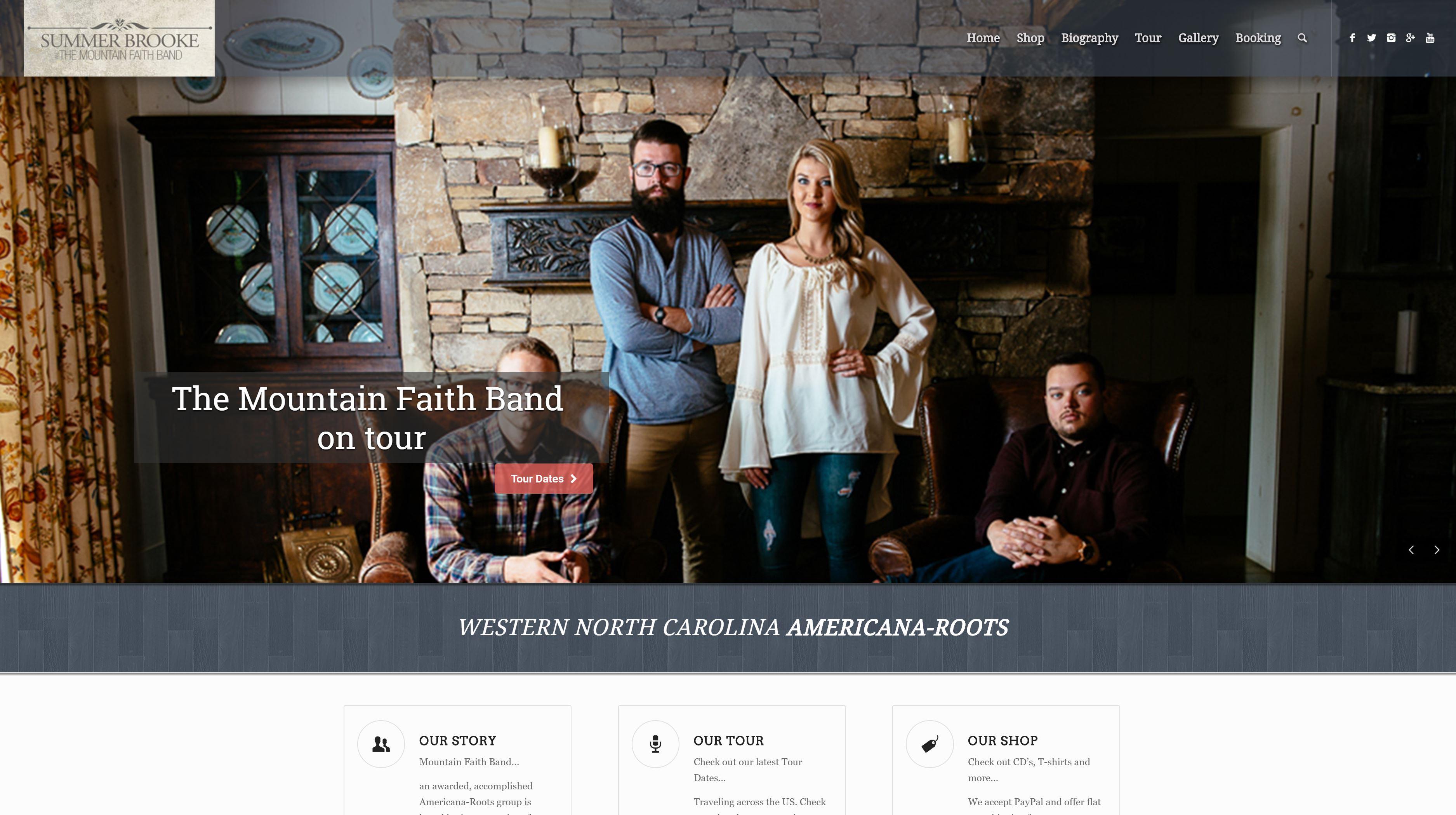 Summer McMahan Musician, Mountain Faith Band